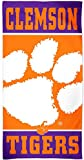 NCAA Clemson University Tigers Premium Beach Towel, 30 X 60 Inches