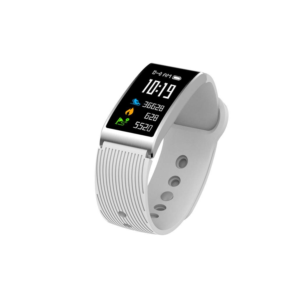 NDGDA,Sports Fitness Heart Rate Monitor Smart Watch Band Bracelet for iOS/Andorid (White)