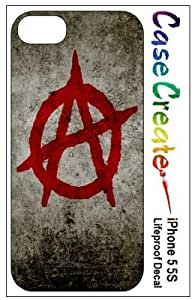 LJF phone case Anarchy Logo Decorative Sticker Decal for your iPhone 5 5S Lifeproof Case