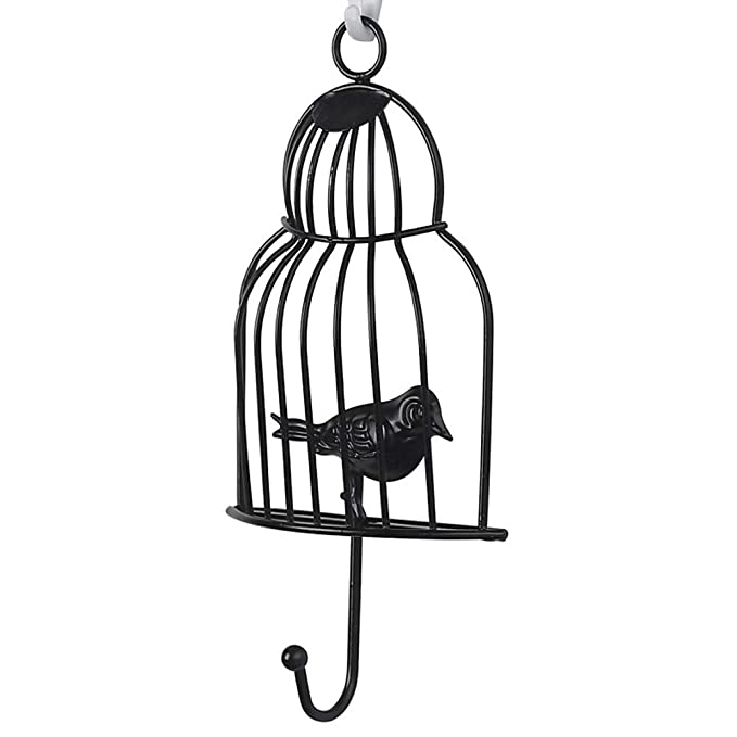 Dyda6 - Gancho de Pared de Hierro con Forma de Jaula de pájaros ...