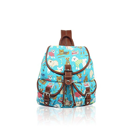 YDezire School Bag Canvas To Turquoise Cats Rucksack Multi Back Teenager Backpack Shoulder Kid Dogs Mix rqPwUAr