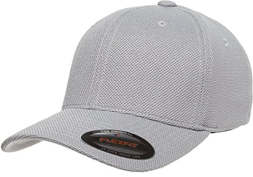 Athletic Jersey Mesh Cap (6577CD Flexfit Athletic Cool and Dry Pique Mesh Cap - OSFA (Silver))