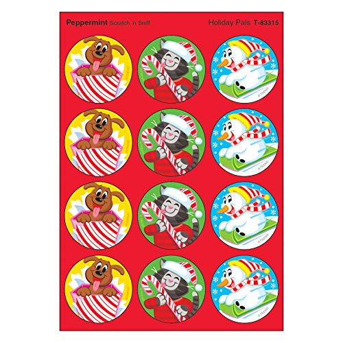 (Holiday Pals/Peppermint Stinky Stickers, 48 Count)