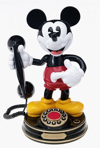 Animated Telephone - Telemania Mickey Mouse Animated Phone