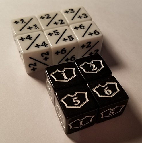 10x Counter & Loyalty 1-6 Dice for Magic: The Gathering and other games / CCG MTG by quEmpire