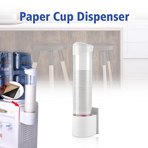 GOTOTOP Cups Dispenser, Anti-Dust Waterproof Plastic 50 Paper Water Disposable Cup Holder Dispenser Rack Box Container by GOTOTOP