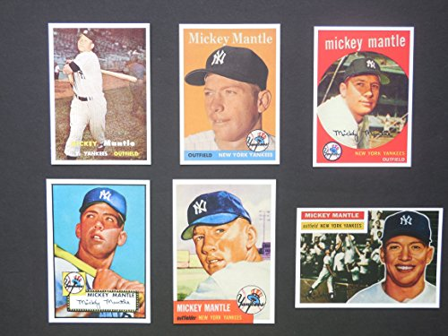 Mickey Mantle (6) Card Reprint Lot #33 1952-1959 Cards (Yankees) ()