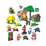 Little Folk Visuals LFV22012 The Three Pigs Flannel Boards