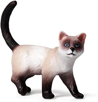 Figuras De Animales De Juguete para Niños Simulación Estática Animal Sólido Gato Modelo Gatito Decoración: Amazon.es: Juguetes y juegos