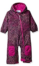 Columbia Baby Hot-tot Suit, Deep Blush Snow Splatter, 18-24 Months