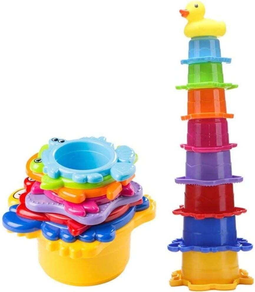Montessori Stacking Material Nesting Toys Nesting Circle Stacker Infant and Toddler Toys Babyshower Gift