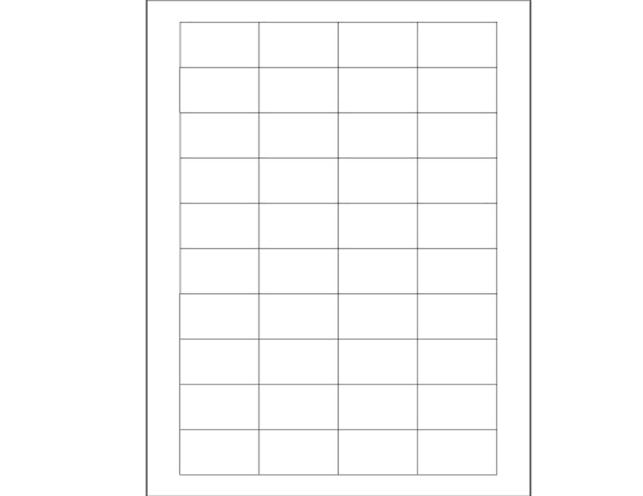 Pack of 4000 RetailSource LL161x1 1 3//4 x 1 White Rectangle Laser Labels 13 Length 2.25 Height
