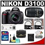 Nikon D3100 Digital SLR Camera and 18-55mm VR + 55-300mm VR Lens + 32GB Card + Filters + Case + Accessory Kit, Best Gadgets