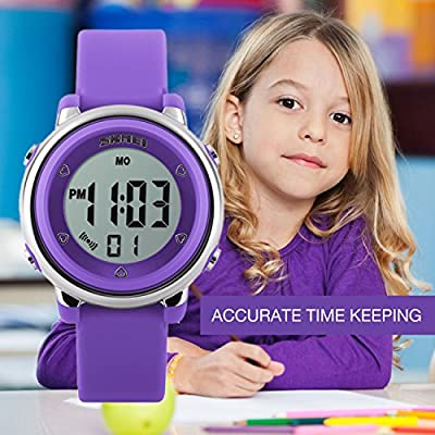 Kids Digital Sport Waterproof Watch for Girls Boys, Kid Sports Outdoor LED Electrical Watches with Luminous Alarm…