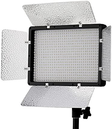 Professional LED Video Lighting Kit Flash with 680 LED Lamps over 6000LM for DSLR Camera Canon EOS, Nikon, Pentax, Panasonic,SONY, Samsung and Olympus Digital SLR Cameras