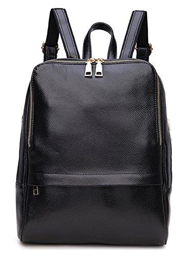Greeniris Ladies Genuine Leather Backpack Fashion Schoolbag Shoulder Bag Backpack Women Rucksack