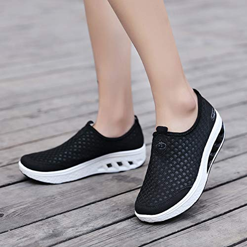 Casual Outdoor Black Air Women Blue Black Shoes Shoes Sports Mesh 42 Sneakers Shoes 36 Cushion Thick Soled Gray xETSTUq