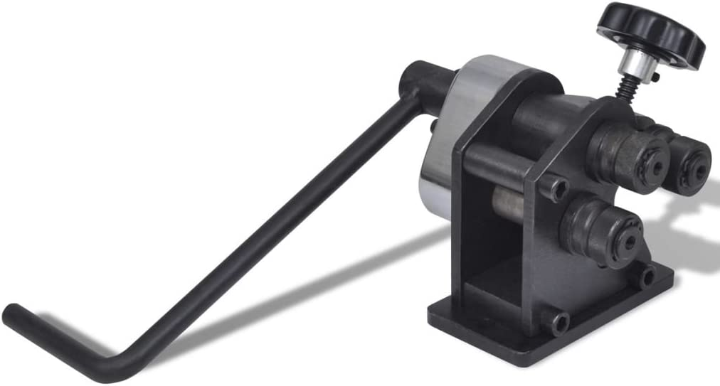 Tidyard Máquina Portátil Curvadora con una Cubierta de Plástico de Hierro Fundido 14 x 17 x 18 cm