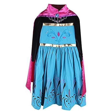 Moin Vestido para Niñas Princesa para Fiesta Carnaval Cosplay de manga larga Capa