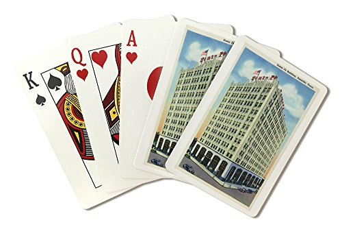Amarillo, Texas - Santa Fe Building Exterior View (Playing Card Deck - 52 Card Poker Size with Jokers) ()
