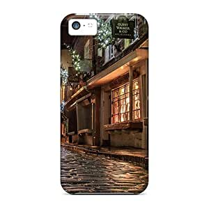Durable Defender Case For Iphone 5c Tpu Cover(beautiful Side Street At Christmas In Engl Hdr)