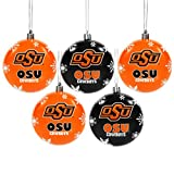 Oklahoma State 2016 5 Pack Shatterproof Ball Ornament Set