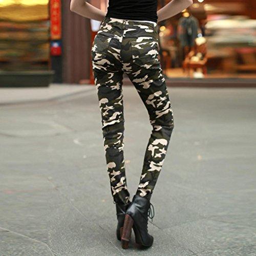 f7f78c2e567b Damen Camo Hose, Zarupeng Casual Hohe Taille Hosen Slim Fit Leggings  Camouflage Skinny Bleistift Hosen ...
