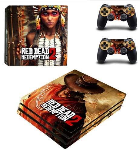 Calcomanía adhesiva para la piel del juego Red Dead Redemption 2 PS4 Pro para consola PlayStation 4 y 2 controladores Vinilo adhesivo para la piel PS4 Pro: Amazon.es: Videojuegos
