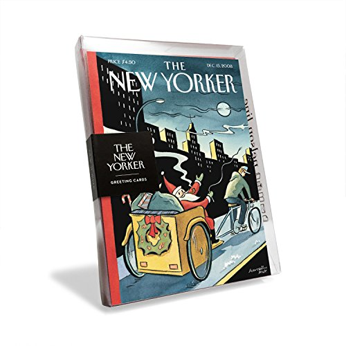 The New Yorker Magazine Cover Santa's New Sleigh Holiday Cards (Box of 8)