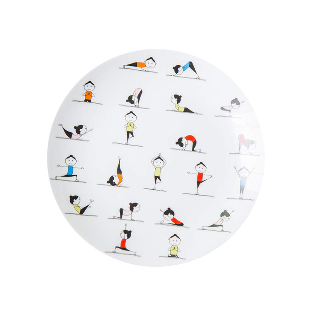 A2 Geschirr, Besteck & Gläser Teller YUWANW Glas westlichen Geschirr Geschirr setzen kreative Gewichtsverlust Ohr Schüssel ursprünglichen niedlichen Yoga Keramik Frühstück Teller