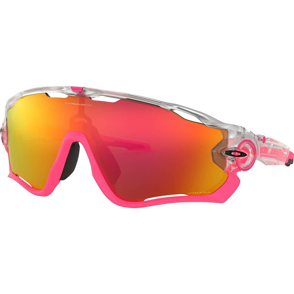 Oakley Men's OO9290 Jawbreaker Shield Sunglasses, Matte Clear/Prizm Ruby, 31 mm by Oakley