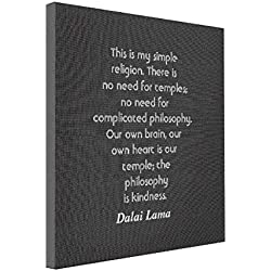 SthAmazing Quotes About Kindness Photos Printed On Canvas Dalai Lama Quote Wall Canvas