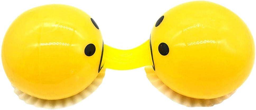 Stress Relief Soft /& Squishy Party Favor kengbi 3pack Emoji Vomit Oeufs Nouveaut/é Gag Jouets Cracher jaune doeuf Prank squeeze Stress Relief Jouets pour les farces robust