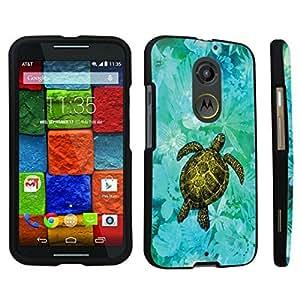 DuroCase ? Motorola Moto X 2nd Gen. 2014 Hard Case Black - (Sea Turtle Floral)