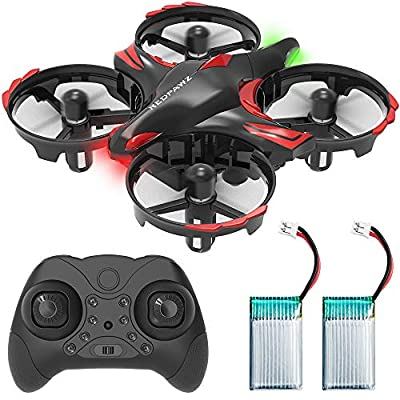 REDPAWZ Mini Drone, 2.4G 6-Axis RC Nano Quadcopter Best Drone for Kids & Beginners RC Helicopter Plane with Infrared Sensing, Altitude Hold, Shake & Throw to Fly, Boys Girls Gift Toys, 2Pc Batteries