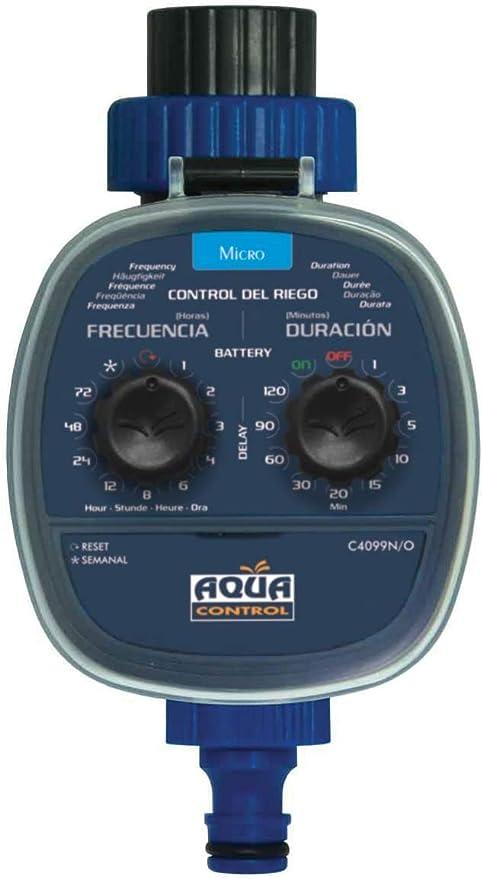 Aqua Control C4099O Programador de Riego para Jardín, Para todo tipo de Grifos, Apertura a 0 Bar. Antiguo C4099N: Amazon.es: Jardín
