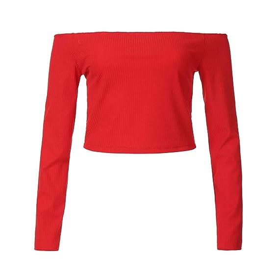 Blusa Mujer Sexy, BBestseller Camiseta de Verano Mujer Sexy del Hombro Tops Casuales Blusas para