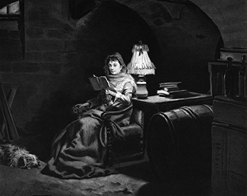 Marie Antoinette N(1755-1793) Queen Of France 1774-1792 Marie Antoinette Reading In Her Cell At The Conciergerie Oil By Jules Girardet (1856-1946) Poster Print by (18 x 24)