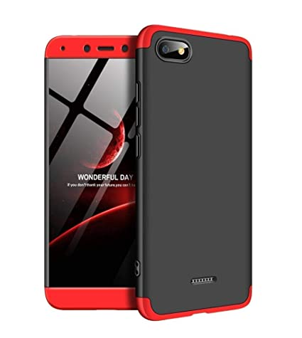 hot sale online 965d6 ab99a Jump Start Redmi 6A Case, 360 Full Body Coverage Protection Hard PC 3 in 1  Double Dip Protective Matte GKK Back Case Cover for Xiaomi Redmi 6a -Black  ...