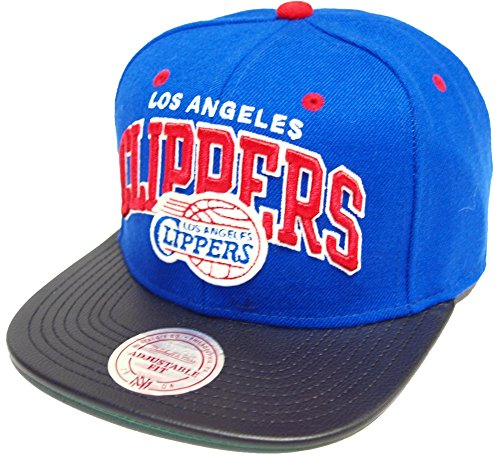 Mitchell & Ness and Los Angeles Clippers Leather Arch EU065 Snapback Cap Basecap