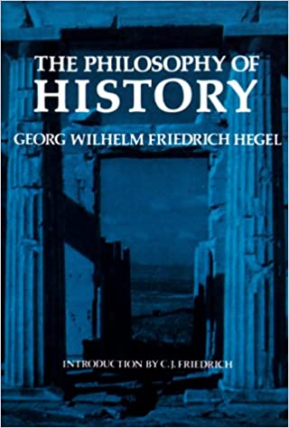 Philosophy of History textbook with historical ruins in the background and a blue filter