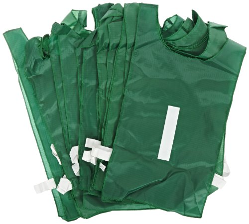 Sportime Numbered Pinnies - Full Size - Set of 12 - Green