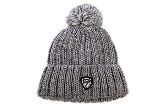 sélection premium élégant et gracieux prix raisonnable Emporio Armani EA7 bonnet avec écharpe homme gris: Amazon.fr ...