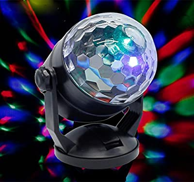 Lianqi LED Crystal Stage Lights,Stage Atmosphere Projector Lights Multi-color Changes Rotating Stage Lights for Bar Club Party DJ Karaoke Car Wedding Lighting Show