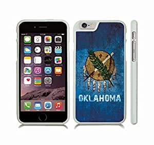 iStar Cases? iPhone 6 Plus Case with Oklahoma State Flag, Antique Graphic Design , Snap-on Cover, Hard Carrying Case (White)