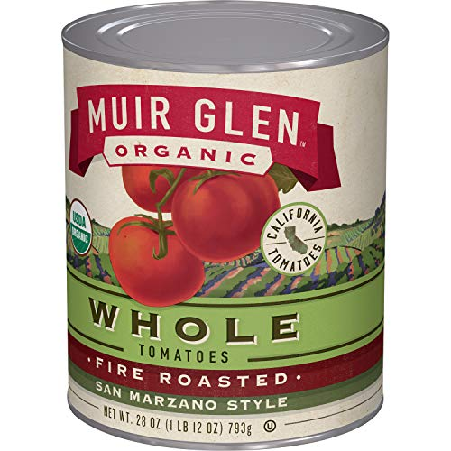 Muir Glen Canned Tomatoes, Organic Whole Tomatoes, Fire Roasted San Marzano Tomatoes, No Sugar Added, 28 Ounce (Pack of - Fire Soup Roasted Tomato