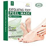 2 Pairs Foot Peel Mask, Exfoliant and Moisturizing for Soft Feet in 1 Week, Exfoliating Booties for Peeling Off Calluses & Dead Skin, For Men & Women by KiraKira