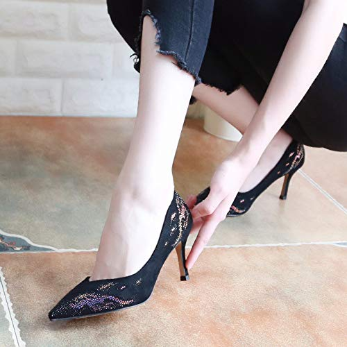 Bouche Chaussures Hauts Shoes Single Kphy 6cm seven Peu in Et Mince Femmes Banquet thirty Talons Gules Diamond Foret La Automne Pointu Mode Sharp Profonde Coloriage xq1tX1TwR