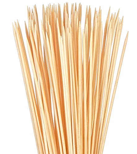 Bambu Stix Marshmallow Roasting Sticks | 36 Inch 5mm Thick Heavy Duty Extra Long Bamboo Sticks | Smores Sticks | Bonfire Skewers | Bamboo Skewer 100% Compostable (40 - Marshmallow Sticks Roasting