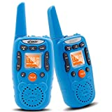 Kids Walkie Talkie Set - Crony T-358 0.5W FRS/GMRS 22 Channel Two Way Radio Up to 3 Km Range for Children Camping Hiking(2PCS Blue)